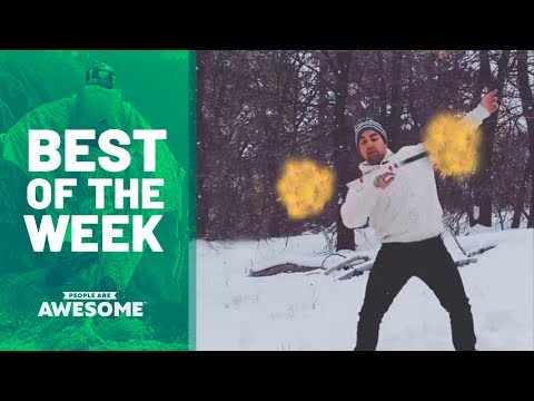 Best of the Week: Baton Twirling Fire & Pool Trick Shots | People Are Awesome