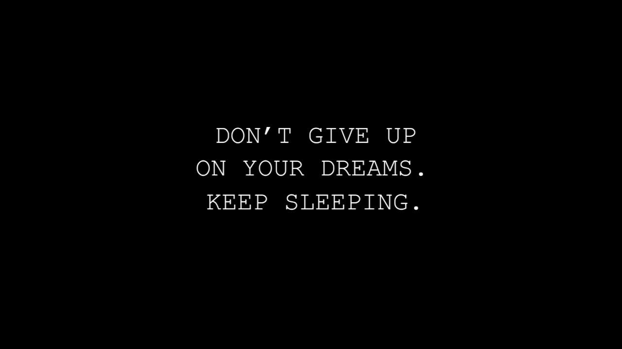 Don't Give Up On Your Dream. Keep Sleeping. - FUNNY QUOTES ...