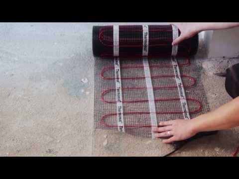 Монтаж теплого пола на кухне Thermo