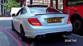 Mercedes-Benz C63 AMG Coupe INSANE Revving in London!! LOUD Exhaust Sounds!!