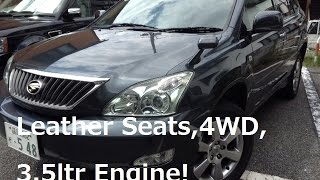4WD Toyota Harrier 3.5G used car for sale Tokyo Japan