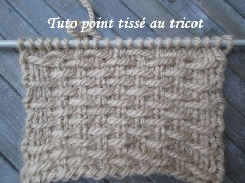 tuto point tisse au tricot facile stitch knitting punto dos agujas youtube. Black Bedroom Furniture Sets. Home Design Ideas