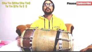How To Play Dholak |Deepchandi Taal| Dholak Lesson For Beginners (Recreated)Learn Dholak Online