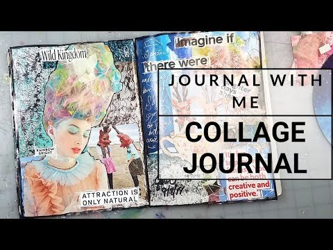 Magazine Collage Art Journal Page   Brighter Days Ahead