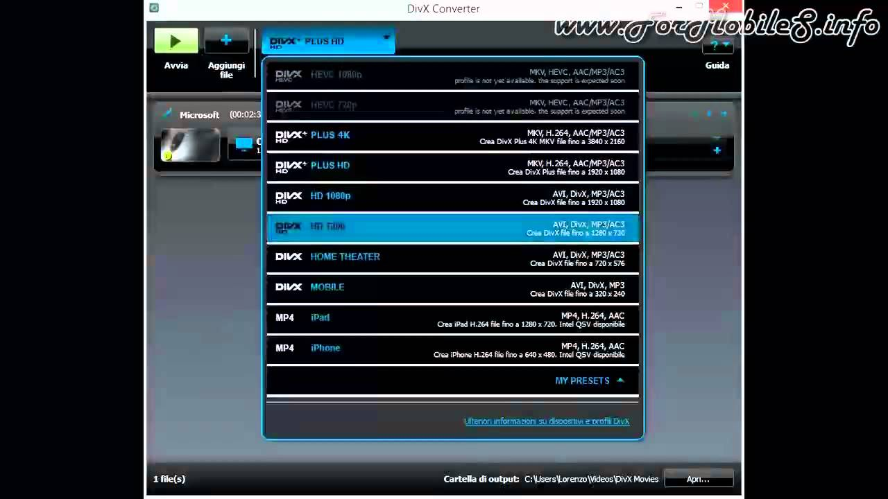 DivX Converter 10 - Come si usa e come funziona - YouTube