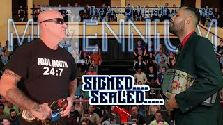 Official Contract Signing: Foul Mouth Aussie (Elite Champion) & Baret Lavoe (InterMedia Champion)