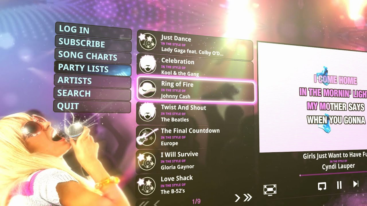 The KARAOKE Channel App for LG Smart TVs   YouTube The KARAOKE Channel App for LG Smart TVs