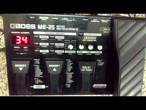 Tocando Guns n Roses com a Boss Me-25- Efeito Clean ppr Guilherme Nascimento