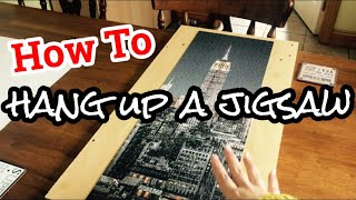 DIY HANGING UP A JIGSAW PUZZLE. How to glue a jigsaw and hang it on a wall, no frame needed. screenshot 1