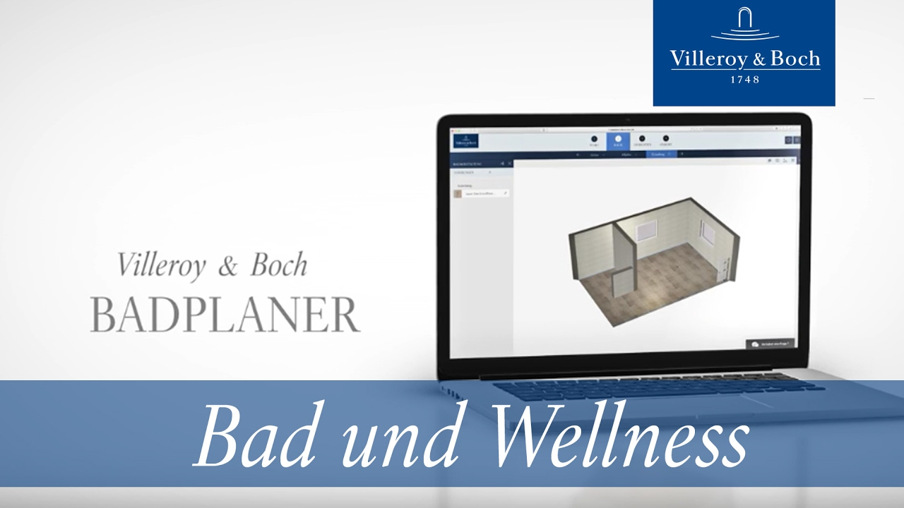 online badplaner in 5 schritten zu ihrem individuellen traumbad villeroy boch youtube. Black Bedroom Furniture Sets. Home Design Ideas