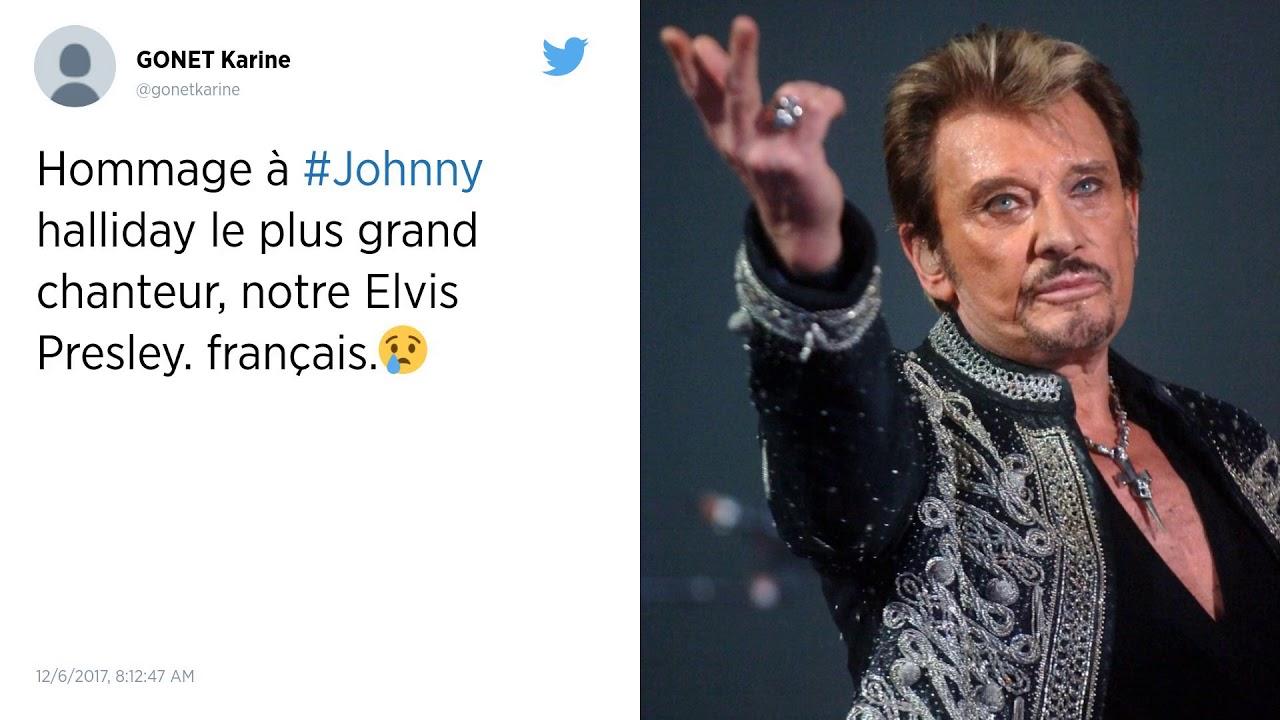 Hommage Sur Twitter : Johnny Hallyday, Monument De La