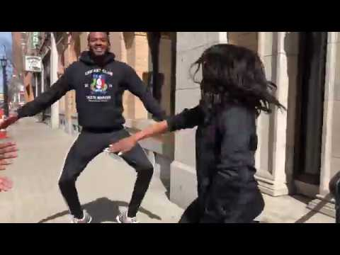 Step Afrika! dance company spotted on streets of Springfield (video)