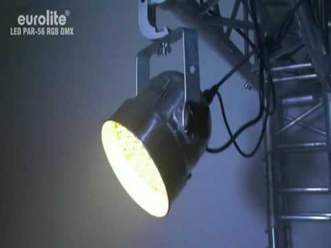 PAR PAR 56 projector - 151 x 5mm LEDs - aluminum - DMX