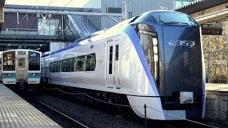 【4K】【新型】響くVVVFサウンド!JR中央線新型特急電車E353系「スーパーあずさ」(三菱IGBT-VVVF)運行開始!到着・発車・走行シーン集+車窓動画