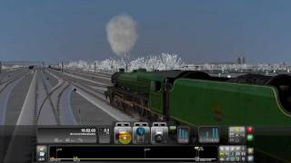 Train Simulator 2012 Game Play Green Steam Engine In Action