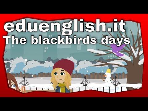 The blackbird's days, la leggenda della merla raccontata in inglese