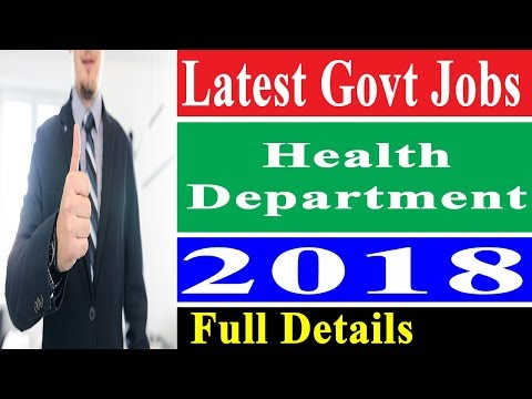 Govt Jobs in Punjab Health Department 2018 - Govt Jobs Finder
