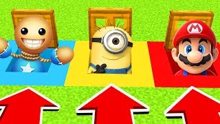 Minecraft : DO NOT OPEN THE WRONG TRAPDOOR! (Mario, Minions,Kick the buddy)(PS4/XboxOne/PE/MCPE)