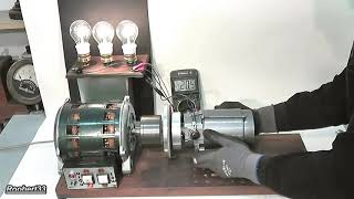 230V induction motor and DC generator, magical neodymium magnets energy (new HD version)