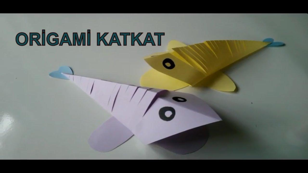 Kağıt origami nasıl yapılır - bir balık yapın