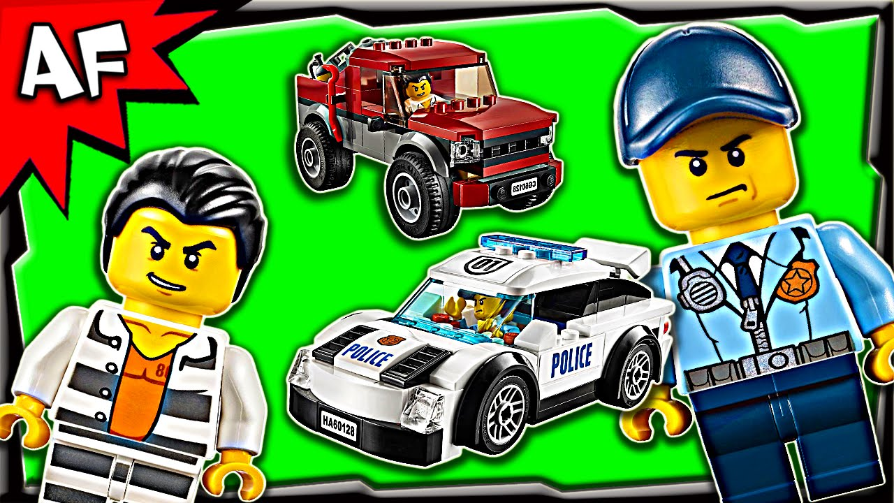 Lego City Police Pursuit 60128 Stop Motion Build Review Youtube