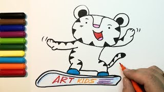 How To Draw A Soohorang - Mascot of the PyeongChang 2018 Olympic Winter Games