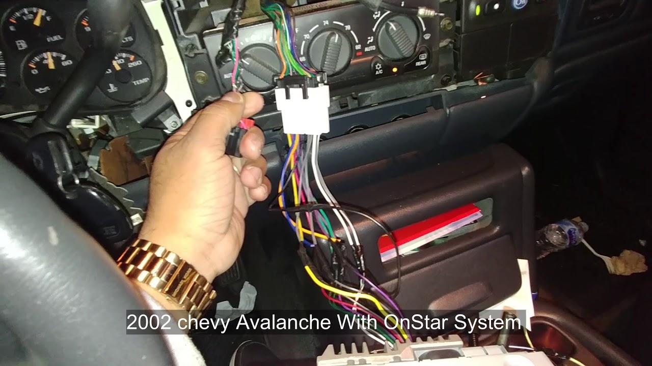 medium resolution of 2002 chevy avalanche radio instalacion onstar bypass