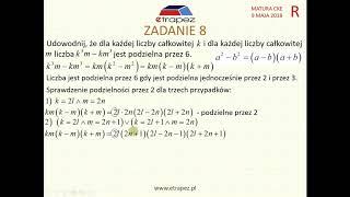 [Zadanie 8] Matura z matematyki poziom rozszerzony. Maj 2018.