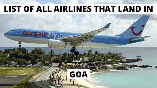 List of ALL Airlines That Land In GOA AIRPORT (GOI) (2020)