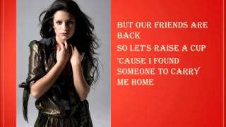 Glee We Are Young Lyrics