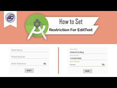 How To Set Restriction For EditText In Android Studio | EditTextRestrictoin | Android Coding