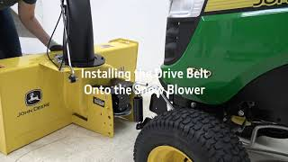 """how to install the 44"""" 100 series snow blower"""
