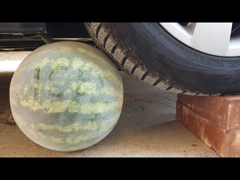 Crushing Crunchy & Soft Things by Car! EXPERIMENT CAR vs ICE WATERMELON
