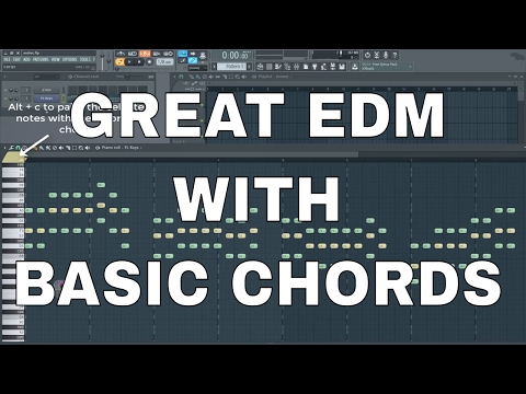 How to make nice EDM using basic chords +create presets in sylenth (saw, lead, bass) +.flp