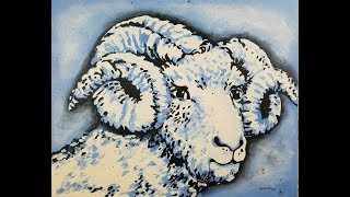 (90) Painting with Acrylics UNC Chapel Hill Ram with Sandra Lett 050218