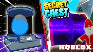ROBLOX BUBBLE GUM SIMULATOR NEW FROST EGG & SECRET CHEST UPDATE!!