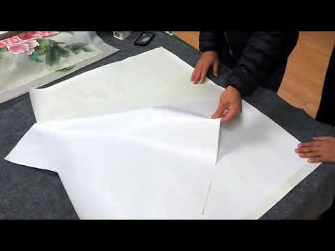 Live Demo Vidfeo: how to dry-mount a silk painting with silicone paper
