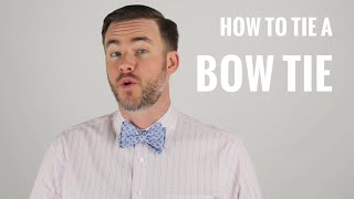 How to Tie a Bow Tie | The Distilled Man