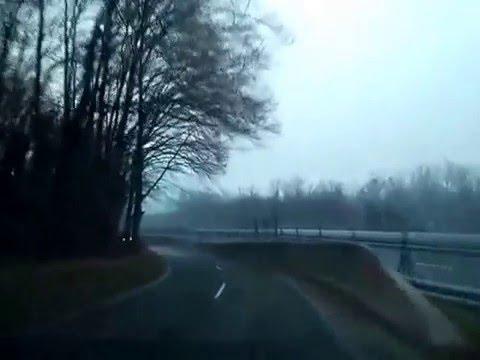 Slovenia drive:Old road to Brežice (co driver view) 2.1.2016.