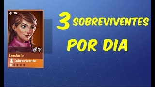 HOW TO GET 3 LEGENDARY SURVIVORS PER DAY-Fortnite Save the World
