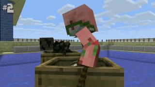 Monster School: Boat Race - Diving - High Jump - Minecraft Animations
