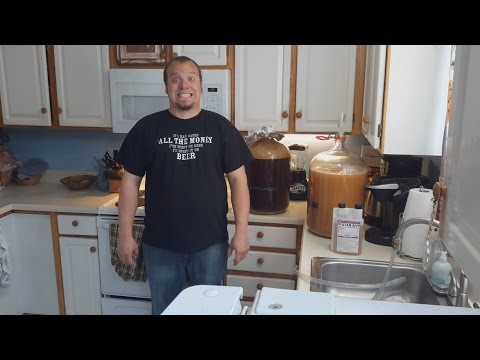 Homebrew - Ep.2 Transferring to Secondary Fermentation, Dry Hopping, Lemon Grass, & Clean Up