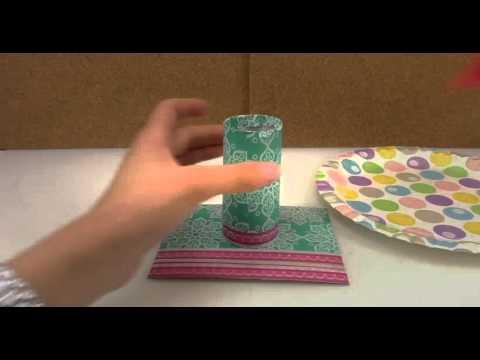 DIY Möbel Deutsch – runder Tisch für Barbie – Anleitung zum einfach selber machen
