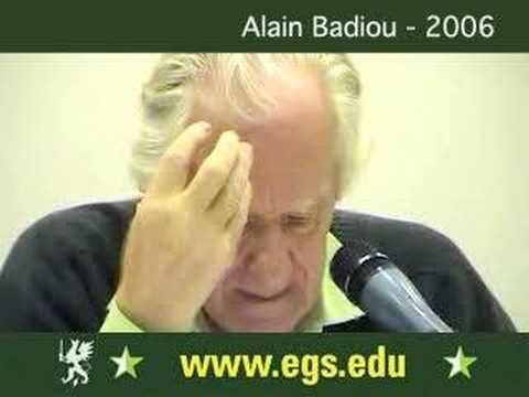 Alain Badiou. Democracy, Politics and Philosophy 2006 4/5