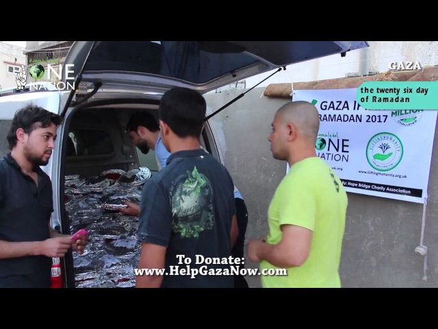 Iftar in Gaza 21 June 2017