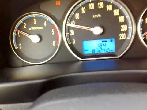 Santa Fe Dash Board Warning Lights Youtube