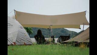 犬連れ夫婦キャンプ 前編 初めて行く無料のキャンプ場 IN鳥取