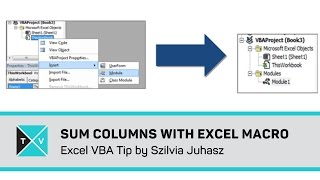 Sum Multiple Columns With Excel Macro - Excel VBA Tips