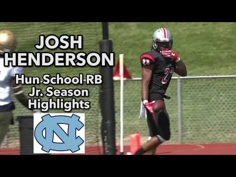 Josh Henderson   Hun School RB  UNC Commit  Jr. Year Highlights