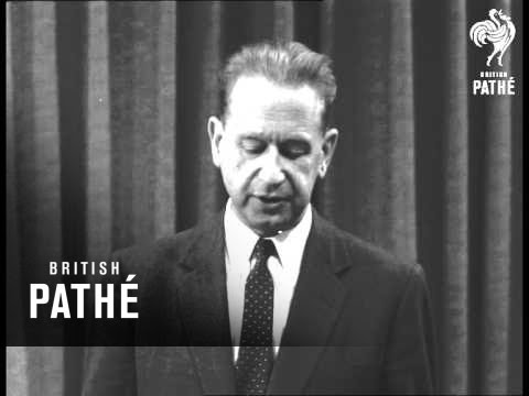United Nations - Interview With Secretary General AKA Dag Hammarskjold UN Leaders (1956)